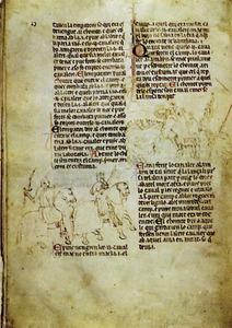 Cròniques. Una plana de la Crònica de Desclot. Foto: cortesia de la <em>Gran Enciclopèdia Catalana</em>.