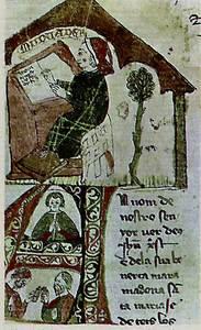 Cròniques. Caplletra d´un dels manuscrits de la Crònica de Ramon Muntaner. Foto: cortesia de la <em>Gran Enciclopèdia Catalana</em>.