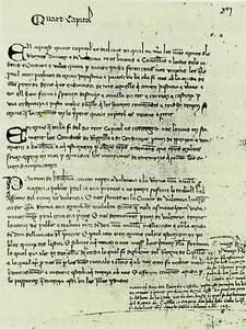 Cròniques. Una plana d´un dels manuscrits de la Crònica de Pere el Cerimoniós. Foto: cortesia de la <em>Gran Enciclopèdia Catalana</em>.