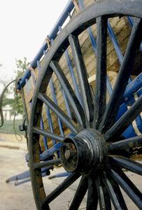 Cuba de la roda d´un carro de baranes. Foto: Antoni Ferrer Abárzuza.