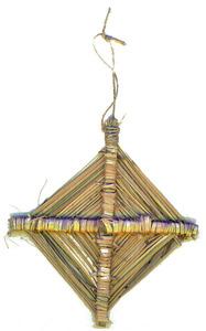 """Un ornament fet amb cugula. Foto: Vicent Marí Serra """"Palermet""""."""