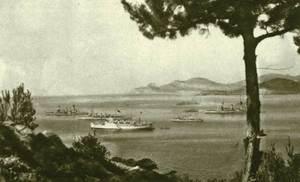 Una imatge de les maniobres militars celebrades a Eivissa l´any 1929, època de la dictadura de Primo de Rivera: la platja des Codolar. Foto: Viñets / Arxiu Històric Municipal d´Eivissa.