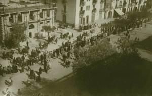 Una altra imatge de les maniobres militars celebrades a Eivissa l´any 1929, època de la dictadura de Primo de Rivera: el passeig de Vara de Rey. Foto: cortesia de l´Arxiu Històric Municipal d´Eivissa.
