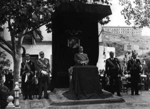 Dictadura. El general Franco, al cap de Vara de Rey, durant la seua visita a Eivissa l´any 1955.