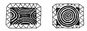 Els dibuixos més freqüents dels anells d´escut. Extret de <em>La joyería ibicenca</em>.