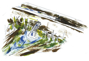 Un fibla, en un dibuix d´Antoni Tur Riera.