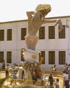 Un exemple de focs de Sant Joan de la ciutat d´Eivissa. Foto: cortesia de Josep Torres Bonnín.