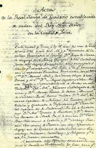 Fons de millores. Portada de les actes d´aquesta institució creada a final del s. XVIII.