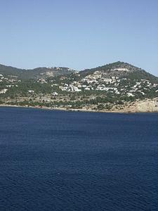 Germanies. La punta des Andreus, on desembarcaren els agermanats. Després foren derrotats a la platja de Talamanca. Foto: EEiF.