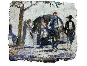 Quadre de Mario Stafforini inspirat en un grup de ball pagès.
