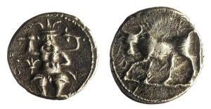 Guerres púniques. Moneda de plata emesa per la seca de l´Eivissa púnica per ajudar a sufragar les despeses de la Segona Guerra Púnica. Extret de <em>La moneda a l´Eivissa púnica.</em>