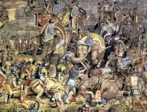 Guerres púniques. La marxa d´Anníbal contra Roma, durant la Segona Guerra Púnica.