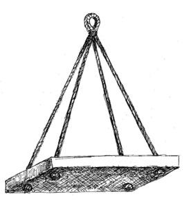 Una guindola, en un dibuix d´Antoni Prats Calbet.