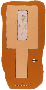 Plànol d´un hipogeu senzill. Cortesia del Museu Arqueològic d´Eivissa i Formentera.
