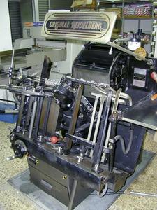 Màquina Heidelberg Original, un clàssic de la impremta. Foto: EEiF.