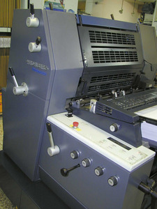 Impremta. Una màquina Heidelberg moderna. Foto: EEiF.