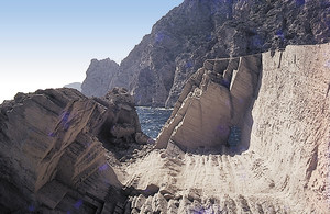 Antic jaciment de marès a sa Pedrera, vénda de Cala d´Hort, Sant Josep de sa Talaia. Foto: Alberto Tostón Calle.