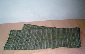 Un teixit eivissenc de mescla. Foto: cortesia del Museu d´Etnografia d´Eivissa.