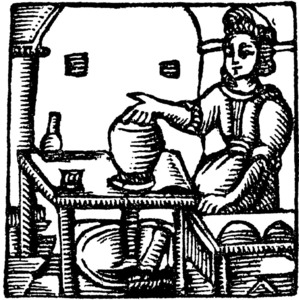 Un mestre terrissesr segons un gravat del s. XVIII.