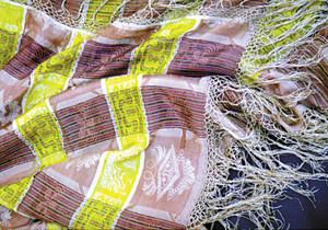 Detall d´un mocador de seda de la mateixa tipologia. Foto: Lena Mateu Prats.