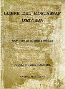 Portada del llibre del mostassaf d´Eivissa, una edició patrocinada per Amics d´Eivissa.