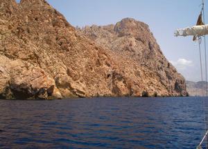 Tram de la costa de l´illot des Vedrà conegut com sa Pala Marina. Foto: Felip Cirer Costa.