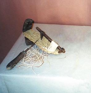 La perxeta s´utilitza per teixir i ordir la capelleta de l´espardenya. Foto: Catalina Sansano Costa.
