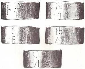 Un dels pocs vestigis de l´ocupació dels vàndals és aquest anell d´or trobat el 1889 a ca na Marieta, prop d´Eivissa. Foto: cortesia del Museu Arqueològic d´Eivissa i Formentera.